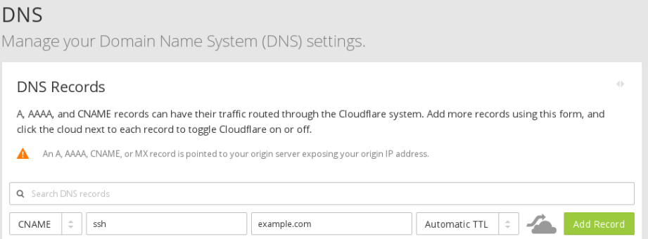 CloudFlare-Create-CNAME-entry-for-SSH.png
